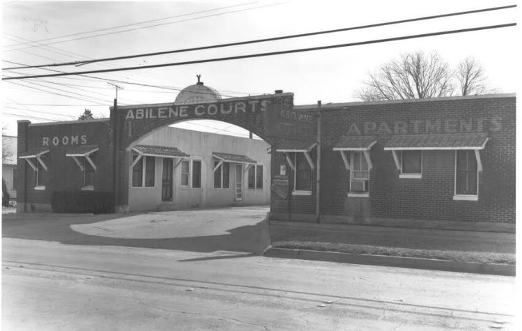 Abilene Courts Bankhead Highway vintage photo