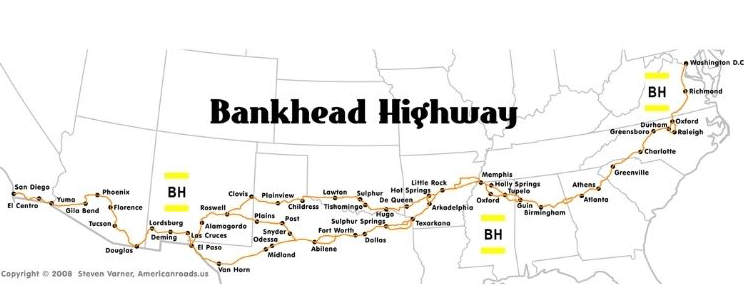 The Bankhead Highway routes through Texas